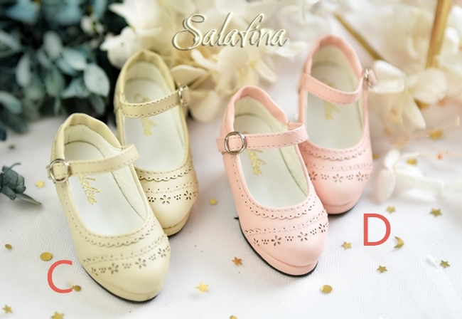 BJD靴  ドール靴 日常エンボス ハイヒール 人形靴 1/4 msd.sdm製品図2