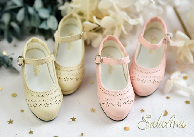 BJD靴  ドール靴 日常エンボス ハイヒール 人形靴 1/4 msd.sdm製品図3