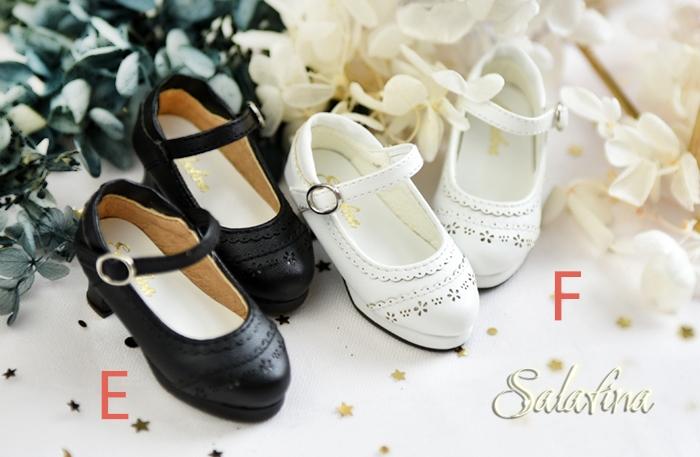 BJD靴  ドール靴 日常エンボス ハイヒール 人形靴 1/4 msd.sdm製品図4