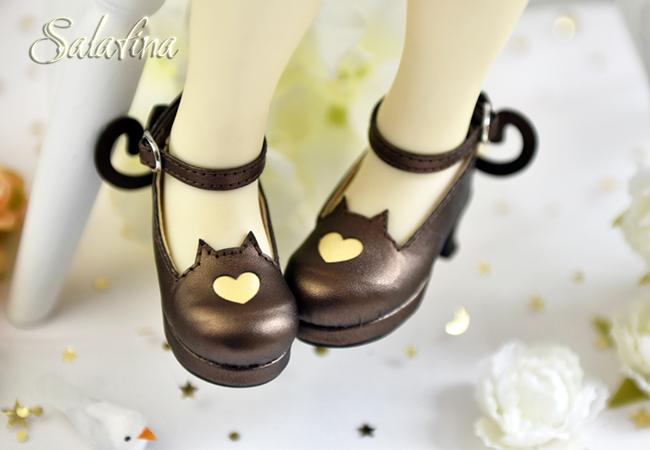 Bjd靴  ドール靴 萌えネコ尾 msd 可愛い靴 人形靴 1/4/1/6/1/8 製品図2