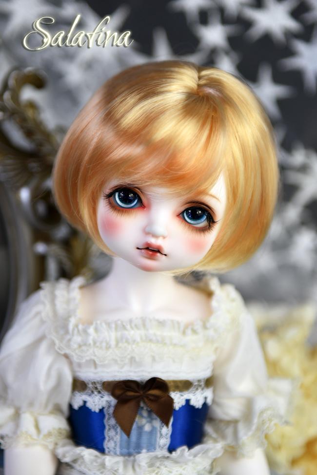 ドール用ウィッグ  人形ウィッグ  ショート髪 1/3/巨児サイズ 超柔らかい糸 BJD SD製品図5