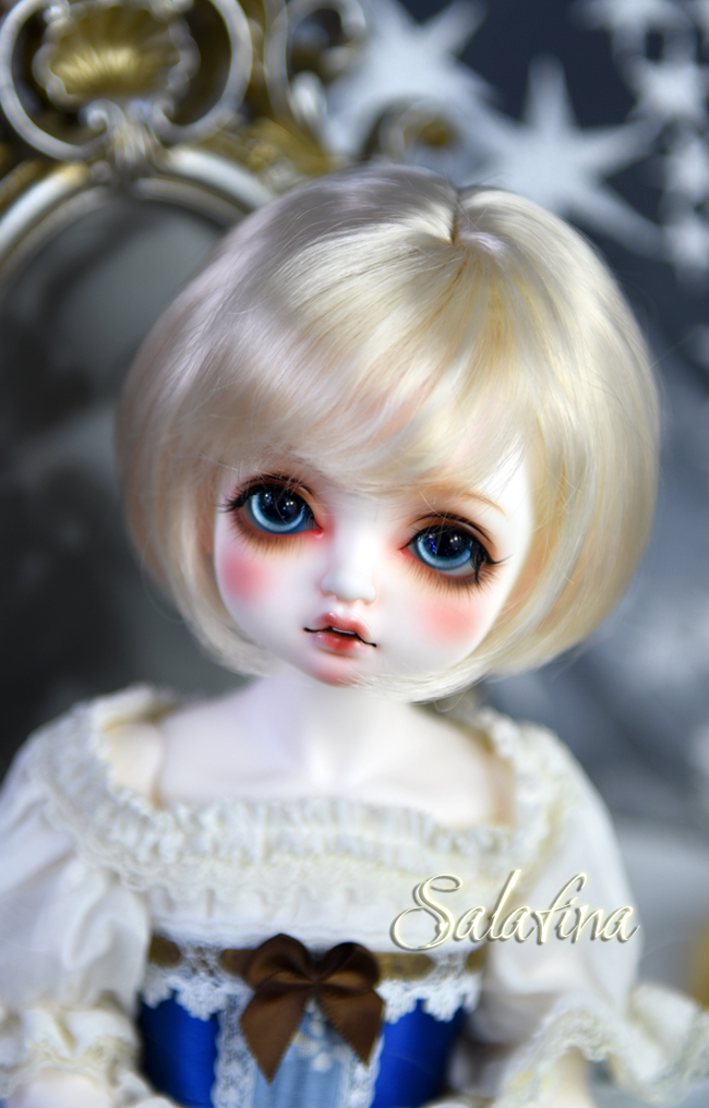 ドール用ウィッグ  人形ウィッグ  ショート髪 1/3/巨児サイズ 超柔らかい糸 BJD SD製品図6