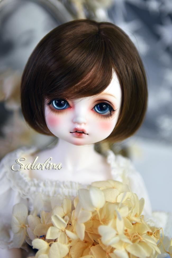 ドール用ウィッグ  人形ウィッグ  ショート髪 1/3/巨児サイズ 超柔らかい糸 BJD SD製品図1