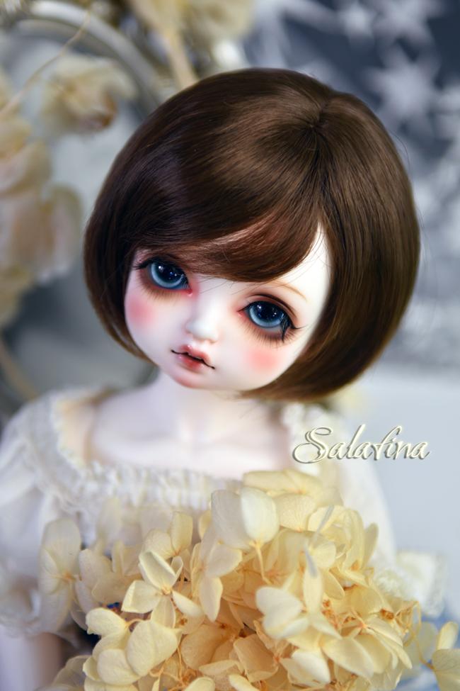 ドール用ウィッグ  人形ウィッグ  ショート髪 1/3/巨児サイズ 超柔らかい糸 BJD SD製品図2