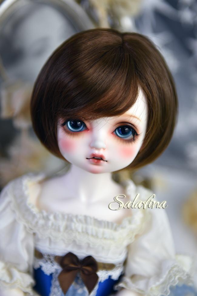ドール用ウィッグ  人形ウィッグ  ショート髪 1/3/巨児サイズ 超柔らかい糸 BJD SD製品図3