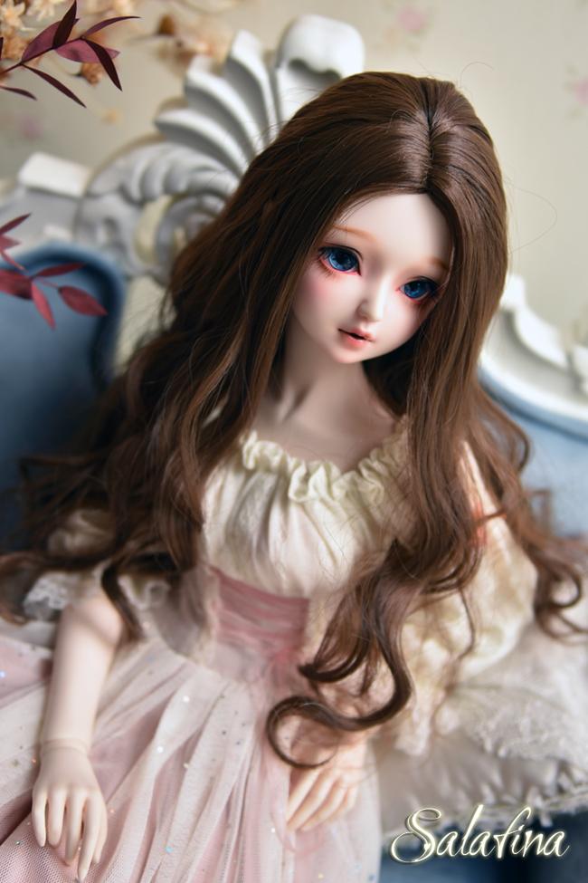 ドール用ウィッグ  人形ウィッグ  ロングヘア 1/3/1/4/1/6/巨児サイズ 超柔らかい糸 BJD SD製品図5