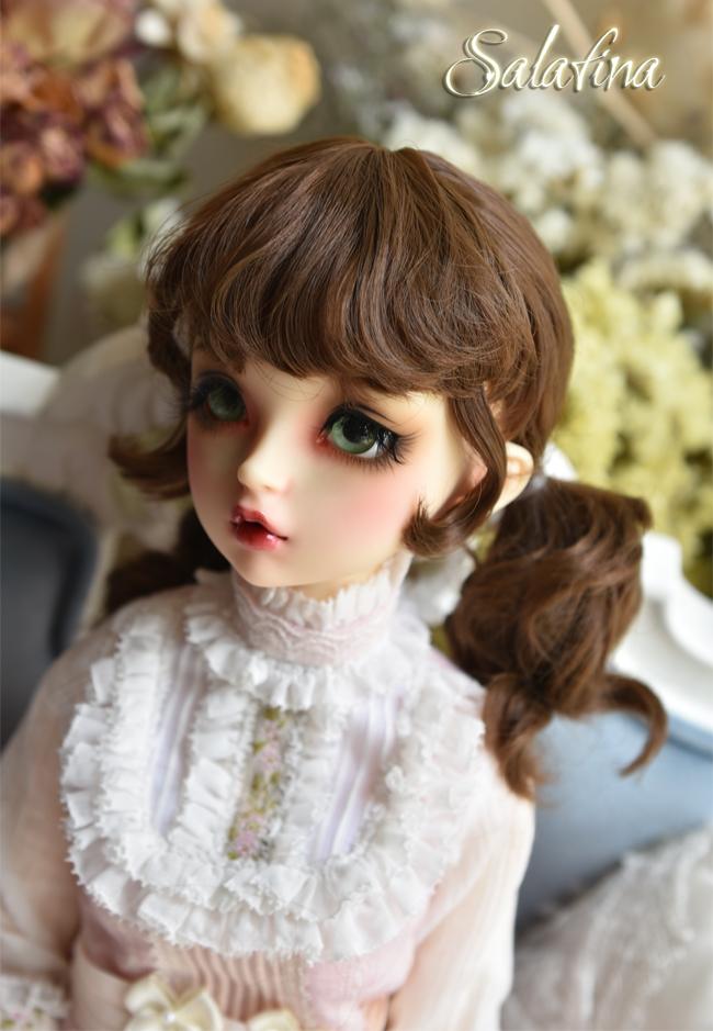 ドール用ウィッグ  人形ウィッグ  カールヘア 1/3/1/4/1/6/巨児サイズ 超柔らかい糸 BJD SD製品図3