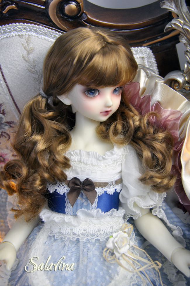 ドール用ウィッグ  人形ウィッグ  カールヘア  1/3/1/4/1/6/1/8サイズ 超柔らかい糸 BJD SD製品図2