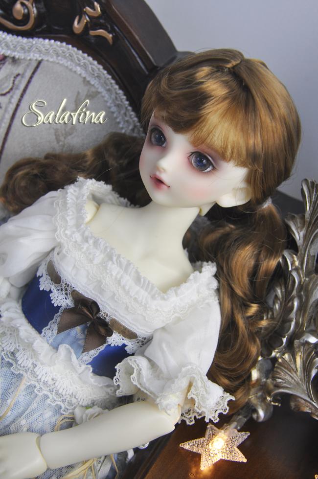 ドール用ウィッグ  人形ウィッグ  カールヘア  1/3/1/4/1/6/1/8サイズ 超柔らかい糸 BJD SD製品図3