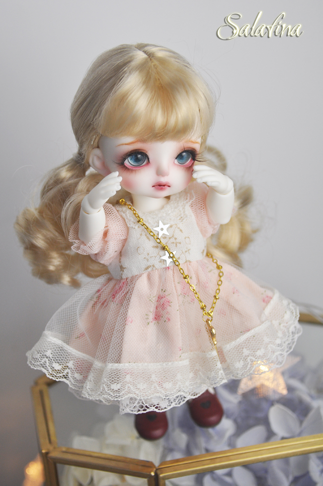 ドール用ウィッグ  人形ウィッグ  カールヘア  1/3/1/4/1/6/1/8サイズ 超柔らかい糸 BJD SD製品図4