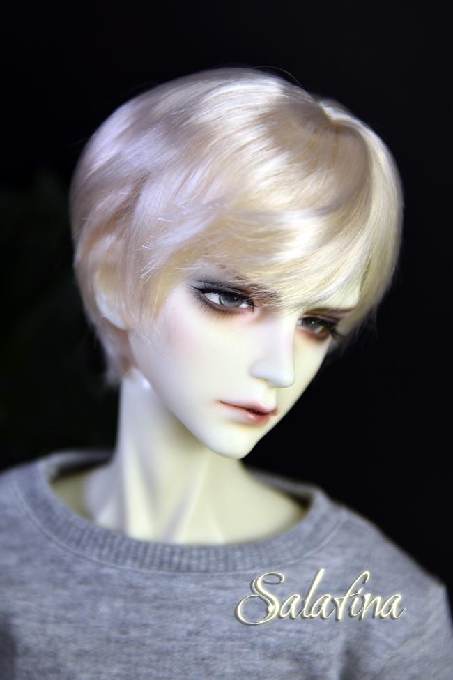 ドール用ウィッグ  人形ウィッグ イケメン 男用 1/3/1/4/1/6サイズ 超柔らかい糸 ショートヘア製品図6