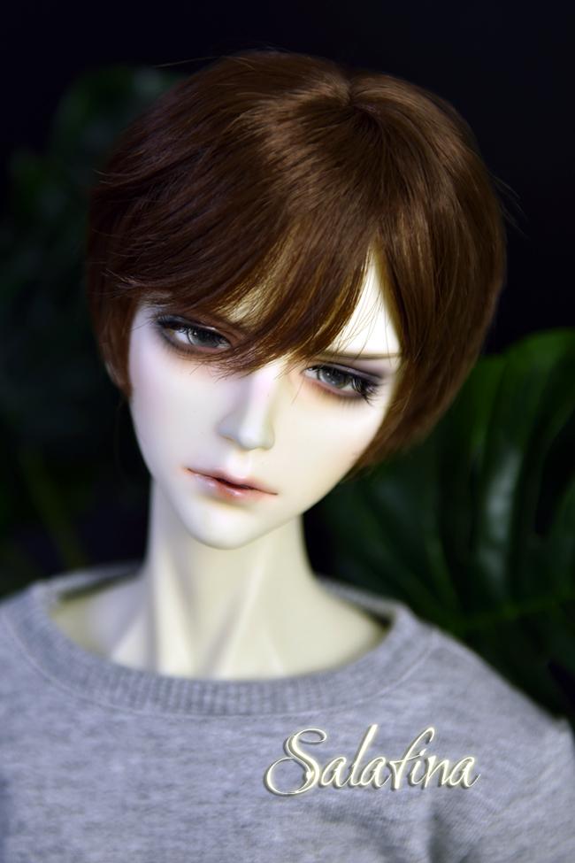 ドール用ウィッグ  人形ウィッグ イケメン 男用 1/3/1/4/1/6サイズ 超柔らかい糸 ショートヘア製品図7