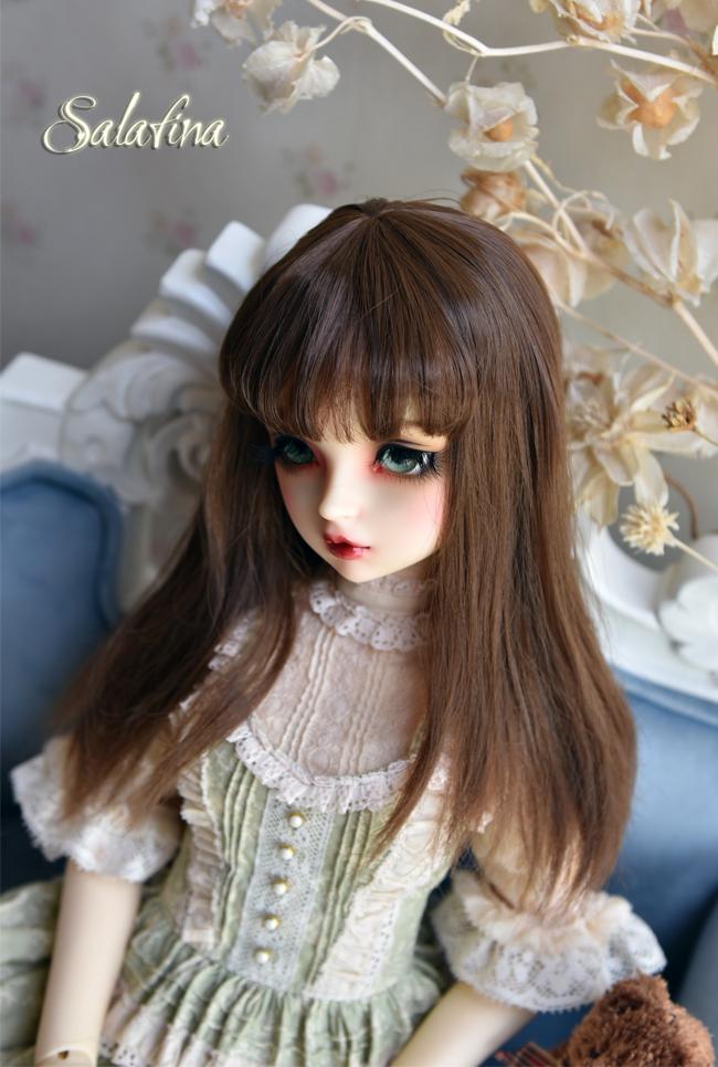 ドール用ウィッグ  人形ウィッグ  ロングヘア 1/3/1/4/1/6/巨児サイズ 超柔らかい糸 BJD SD製品図2