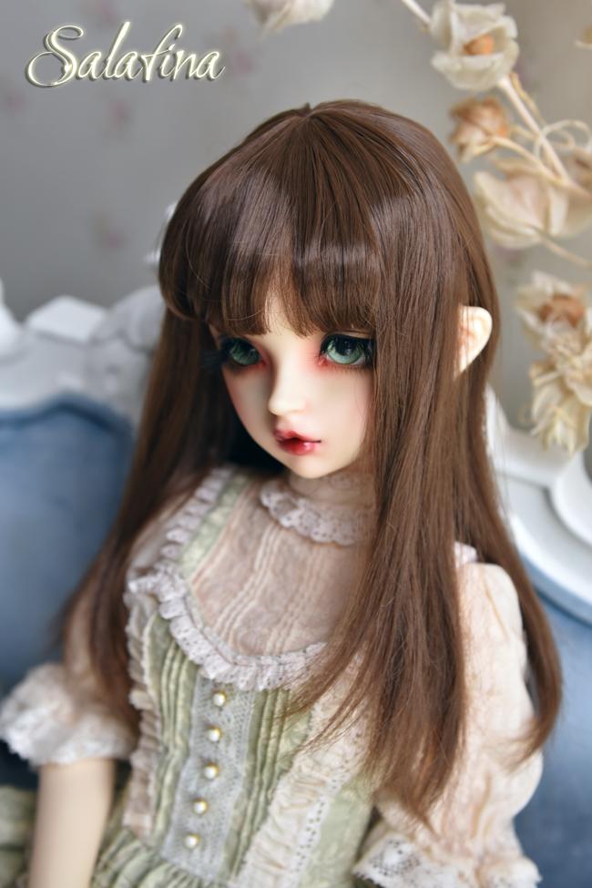 ドール用ウィッグ  人形ウィッグ  ロングヘア 1/3/1/4/1/6/巨児サイズ 超柔らかい糸 BJD SD製品図4