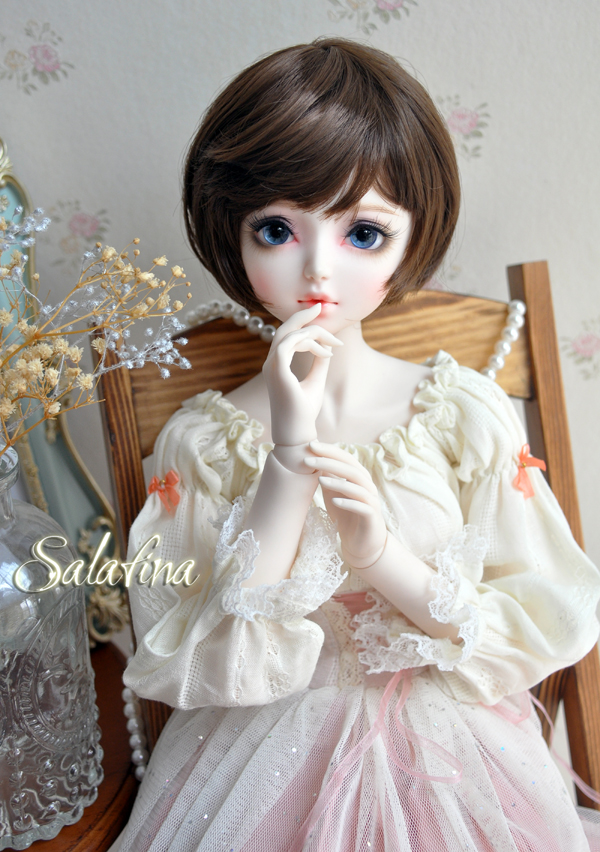 ドール用ウィッグ  人形ウィッグ  超柔らかい糸 少女感 ショートヘア 1/3/1/6サイズ BJD SD製品図5