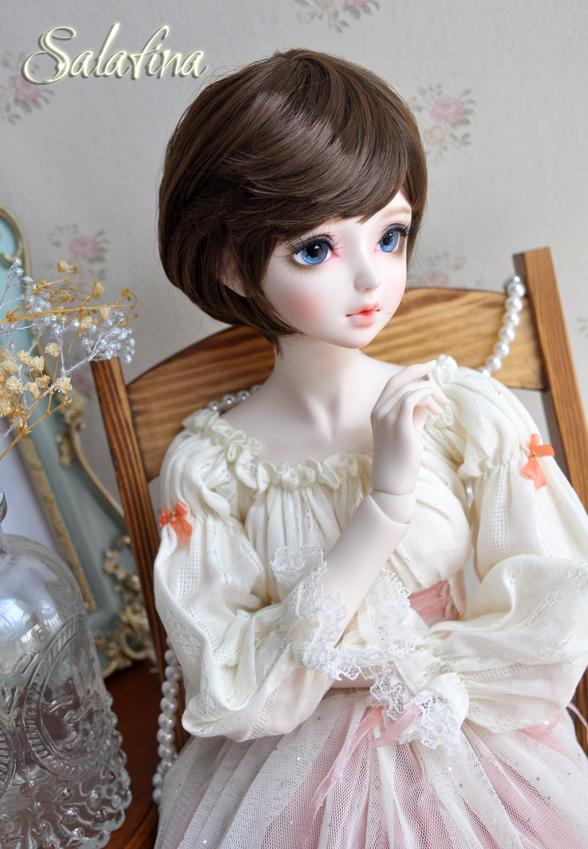 ドール用ウィッグ  人形ウィッグ  超柔らかい糸 少女感 ショートヘア 1/3/1/6サイズ BJD SD製品図6