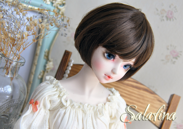 ドール用ウィッグ  人形ウィッグ  超柔らかい糸 少女感 ショートヘア 1/3/1/6サイズ BJD SD製品図1