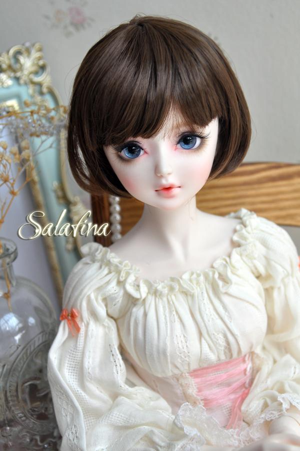 ドール用ウィッグ  人形ウィッグ  超柔らかい糸 少女感 ショートヘア 1/3/1/6サイズ BJD SD製品図2
