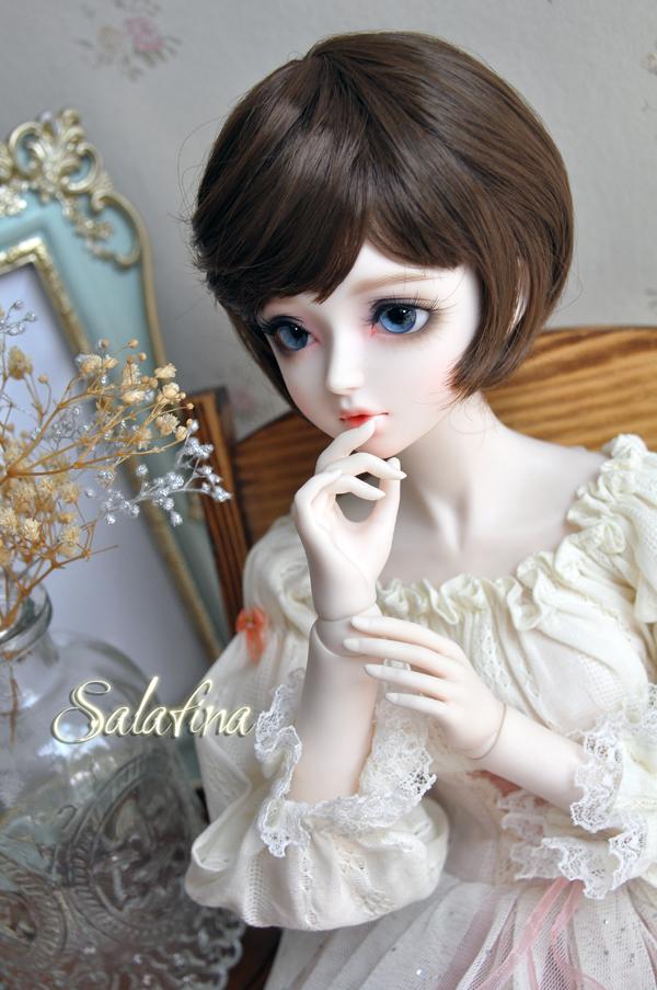 ドール用ウィッグ  人形ウィッグ  超柔らかい糸 少女感 ショートヘア 1/3/1/6サイズ BJD SD製品図3