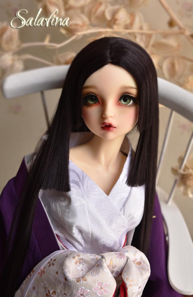 ドール用ウィッグ  人形ウィッグ 優しい和風三刀平 1/4/1/6サイズ 高温糸 BJD SD製品図8