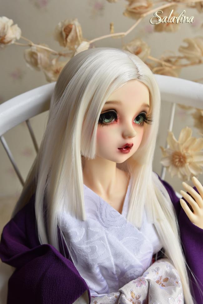 ドール用ウィッグ  人形ウィッグ 優しい和風三刀平 1/4/1/6サイズ 高温糸 BJD SD製品図1