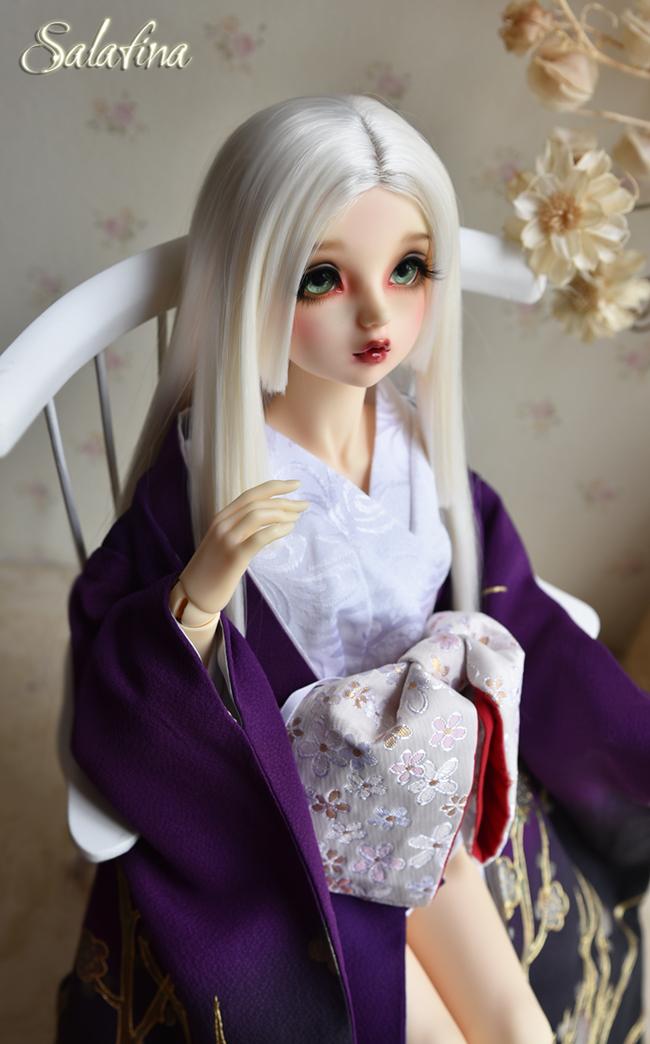 ドール用ウィッグ  人形ウィッグ 優しい和風三刀平 1/4/1/6サイズ 高温糸 BJD SD製品図2