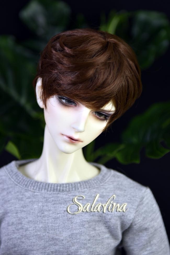 ドール用ウィッグ  人形ウィッグ 少年感 ショートヘア 1/3/1/4/1/6サイズ 超柔らかい糸製品図1