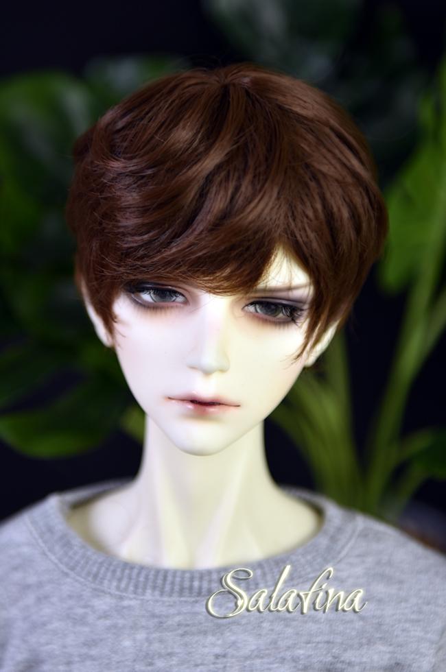 ドール用ウィッグ  人形ウィッグ 少年感 ショートヘア 1/3/1/4/1/6サイズ 超柔らかい糸製品図2