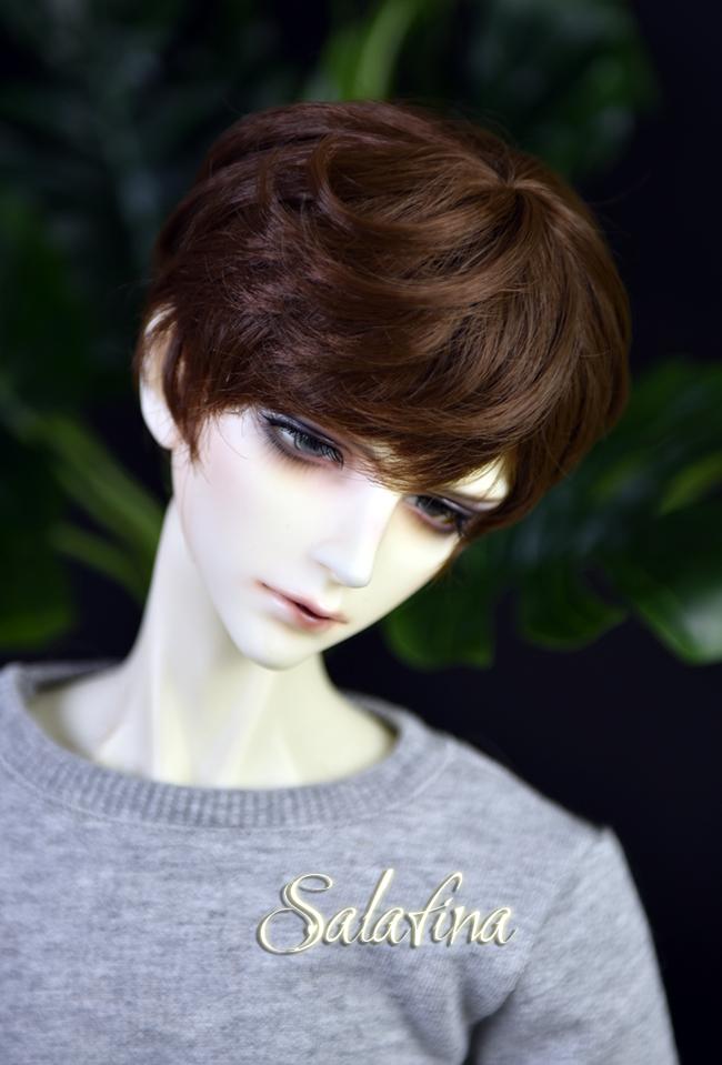 ドール用ウィッグ  人形ウィッグ 少年感 ショートヘア 1/3/1/4/1/6サイズ 超柔らかい糸製品図3