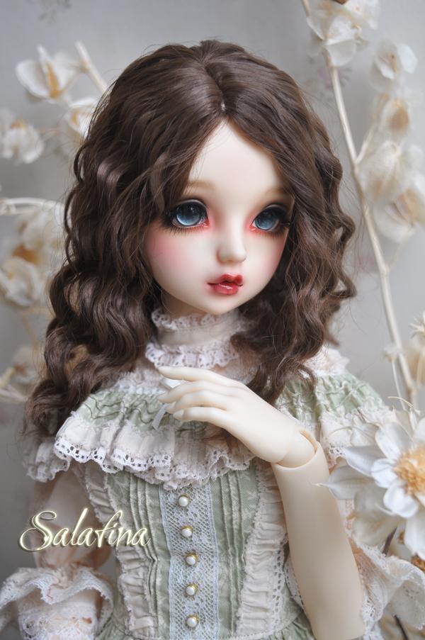ドール用ウィッグ  人形ウィッグ フランス式淑女カールヘア  1/3/1/4/1/6サイズ 超柔らかい糸製品図5