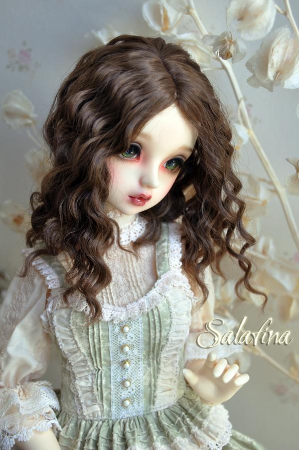 ドール用ウィッグ  人形ウィッグ フランス式淑女カールヘア  1/3/1/4/1/6サイズ 超柔らかい糸製品図6