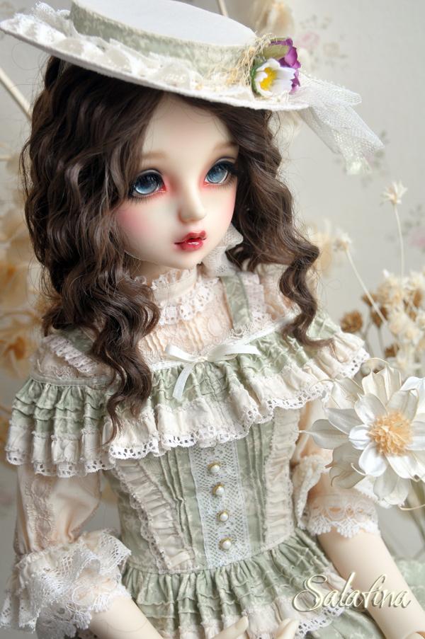 ドール用ウィッグ  人形ウィッグ フランス式淑女カールヘア  1/3/1/4/1/6サイズ 超柔らかい糸製品図1