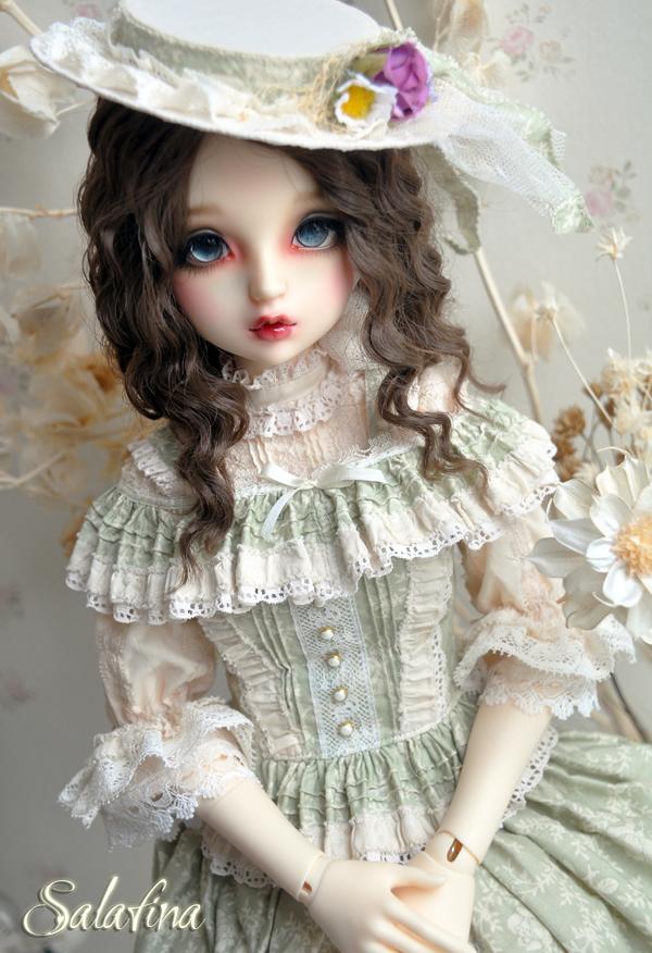 ドール用ウィッグ  人形ウィッグ フランス式淑女カールヘア  1/3/1/4/1/6サイズ 超柔らかい糸製品図2