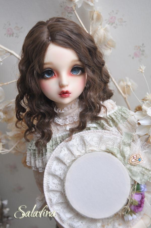 ドール用ウィッグ  人形ウィッグ フランス式淑女カールヘア  1/3/1/4/1/6サイズ 超柔らかい糸製品図3