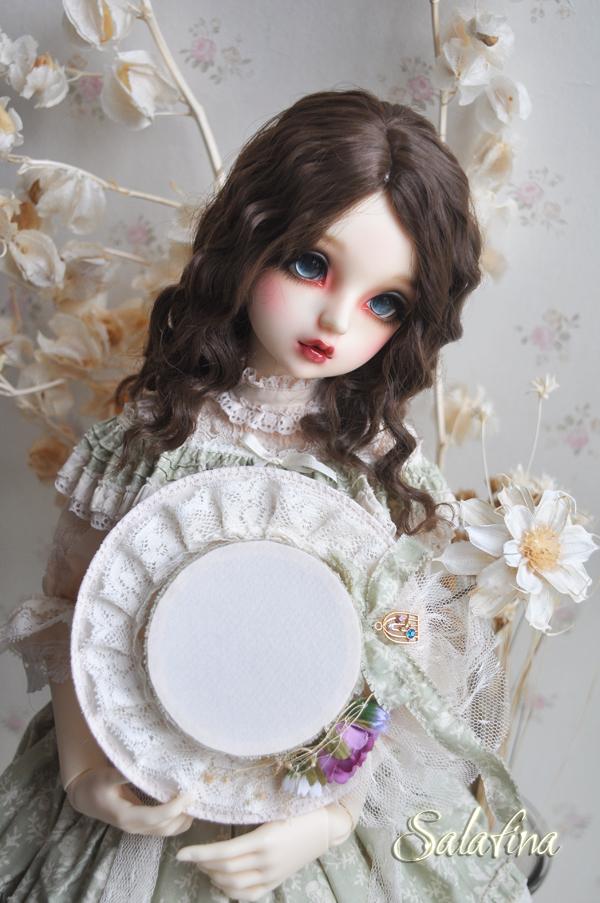 ドール用ウィッグ  人形ウィッグ フランス式淑女カールヘア  1/3/1/4/1/6サイズ 超柔らかい糸製品図4