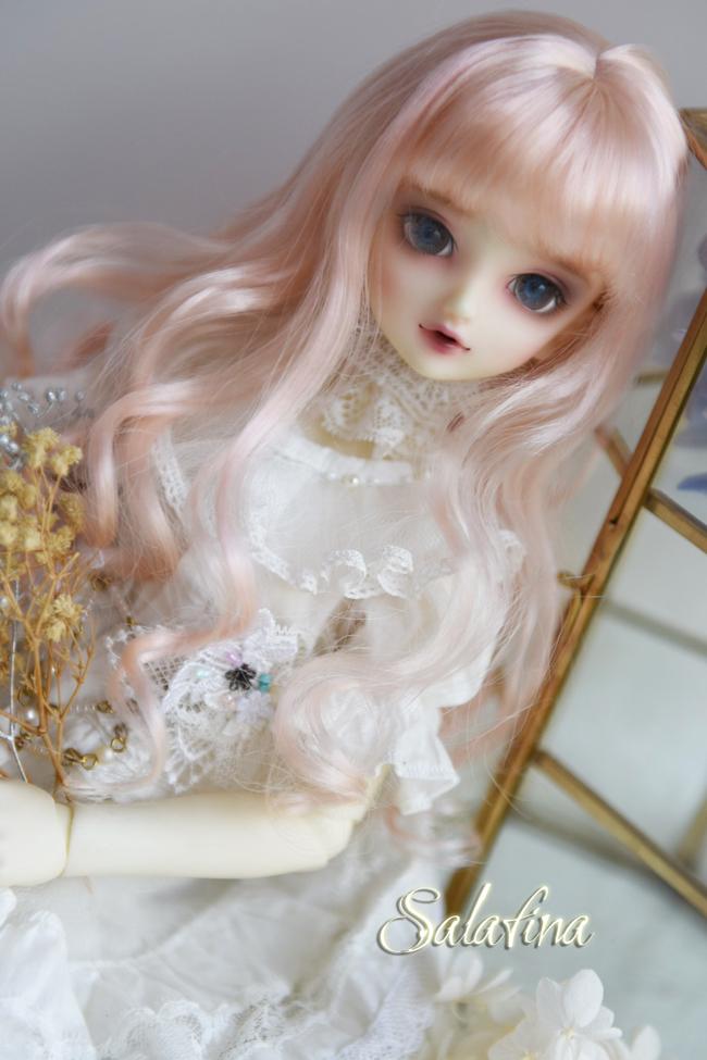 ドール用ウィッグ  人形ウィッグ 天然パーマ  1/3/1/4/1/6サイズ 超柔らかい糸製品図6
