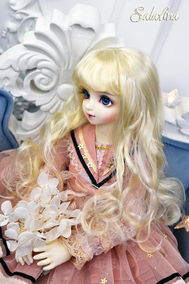 ドール用ウィッグ  人形ウィッグ 天然パーマ  1/3/1/4/1/6サイズ 超柔らかい糸製品図7
