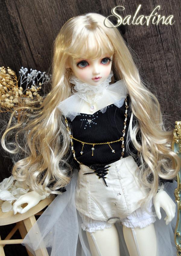 ドール用ウィッグ  人形ウィッグ 天然パーマ  1/3/1/4/1/6サイズ 超柔らかい糸製品図4