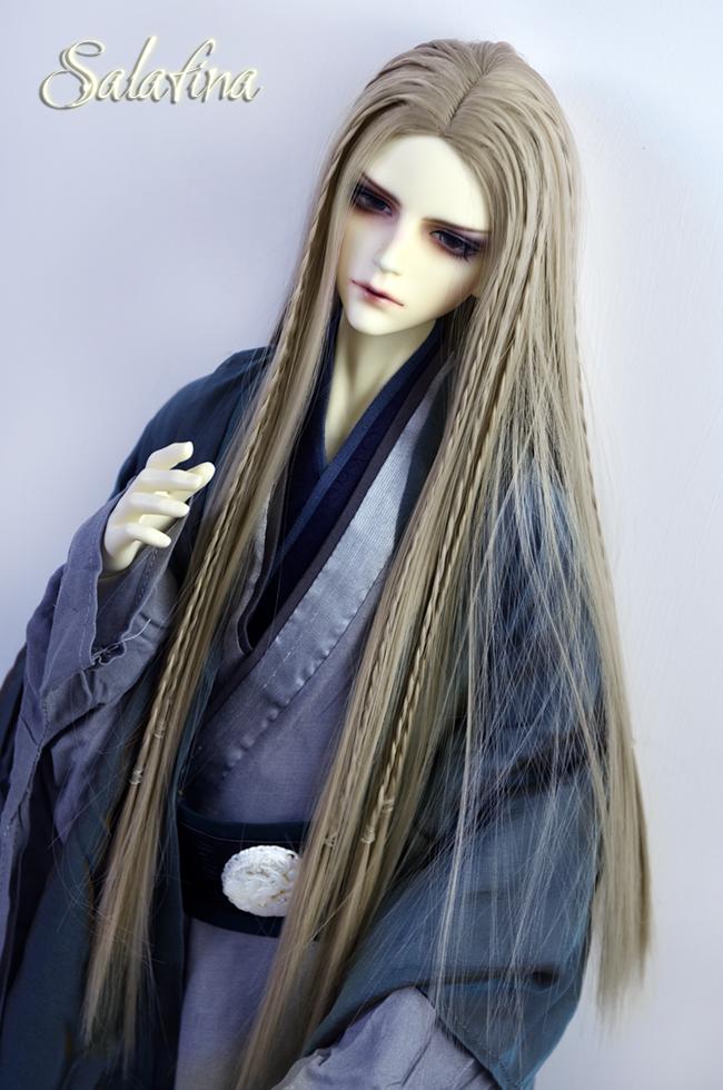 ドール用ウィッグ  人形ウィッグ ロングヘア 男女通用 高温糸 1/3サイズ 超柔らかい糸製品図5