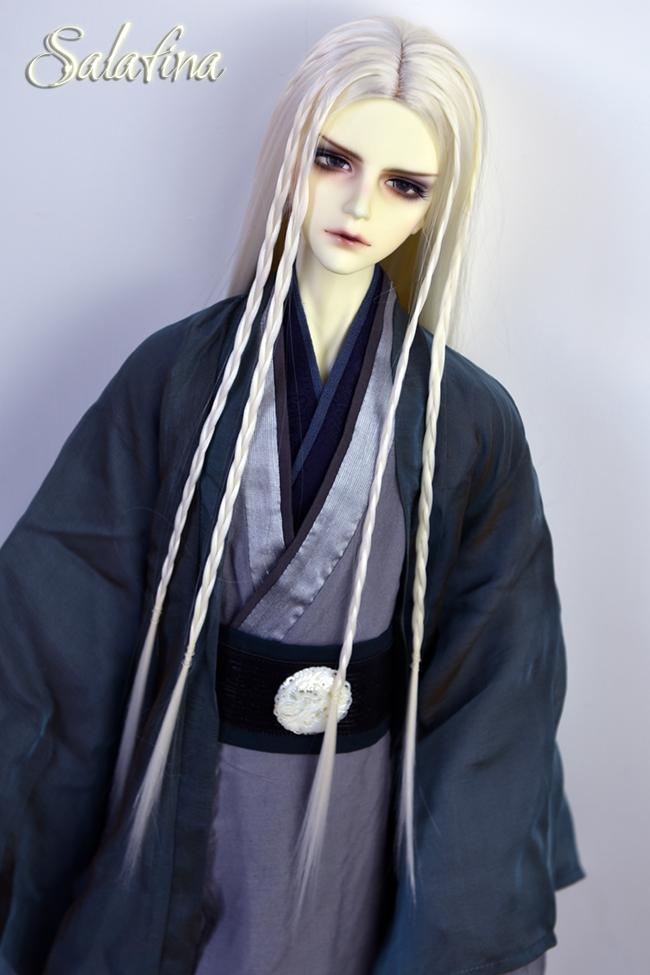 ドール用ウィッグ  人形ウィッグ ロングヘア 男女通用 高温糸 1/3サイズ 超柔らかい糸製品図7