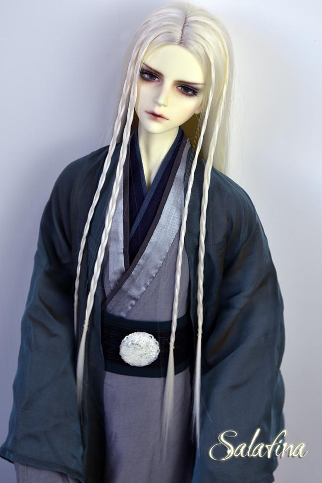 ドール用ウィッグ  人形ウィッグ ロングヘア 男女通用 高温糸 1/3サイズ 超柔らかい糸製品図8