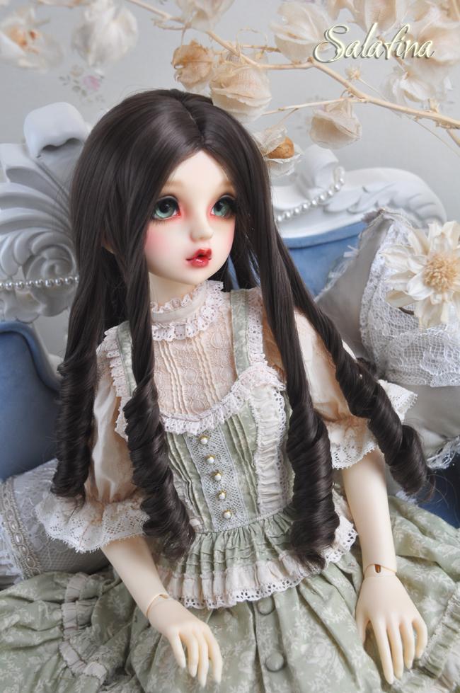 ドール用ウィッグ  人形ウィッグ 古典感 ローマ姫 高温糸 1/3/1/4サイズ 製品図5