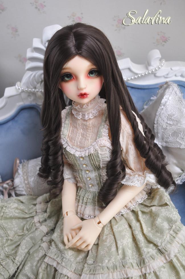ドール用ウィッグ  人形ウィッグ 古典感 ローマ姫 高温糸 1/3/1/4サイズ 製品図6