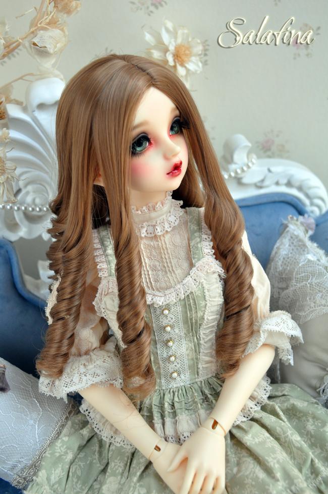 ドール用ウィッグ  人形ウィッグ 古典感 ローマ姫 高温糸 1/3/1/4サイズ 製品図1