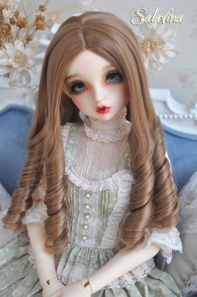 ドール用ウィッグ  人形ウィッグ 古典感 ローマ姫 高温糸 1/3/1/4サイズ 製品図2