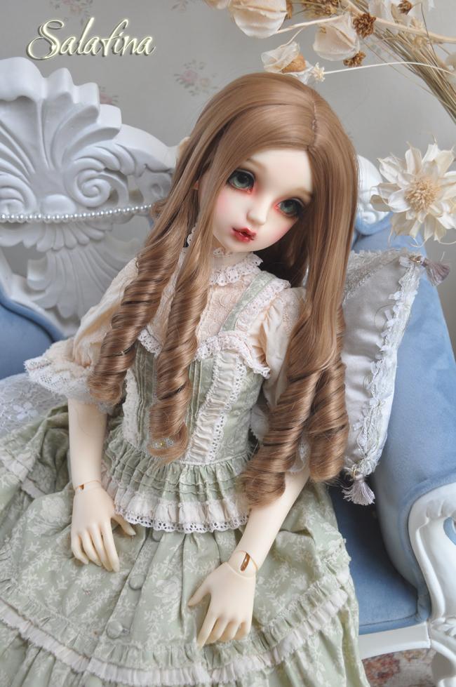 ドール用ウィッグ  人形ウィッグ 古典感 ローマ姫 高温糸 1/3/1/4サイズ 製品図3