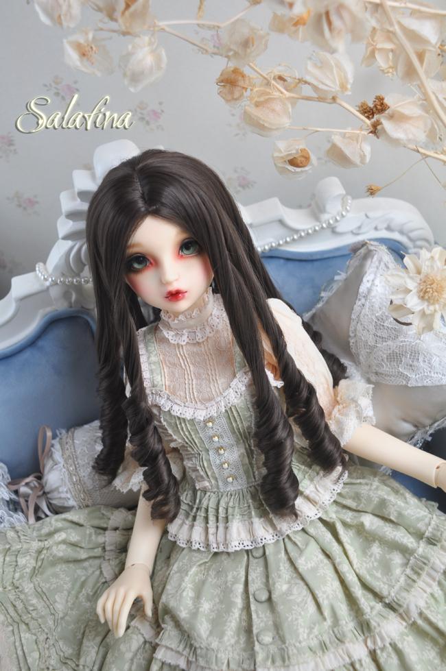 ドール用ウィッグ  人形ウィッグ 古典感 ローマ姫 高温糸 1/3/1/4サイズ 製品図4