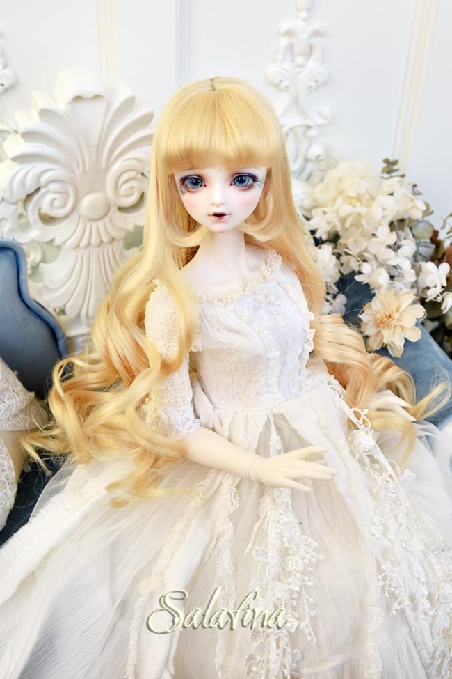 ドール用ウィッグ  人形ウィッグ  Anna カールヘア 1/3/1/4/1/6サイズ 高温糸 BJD SD製品図7