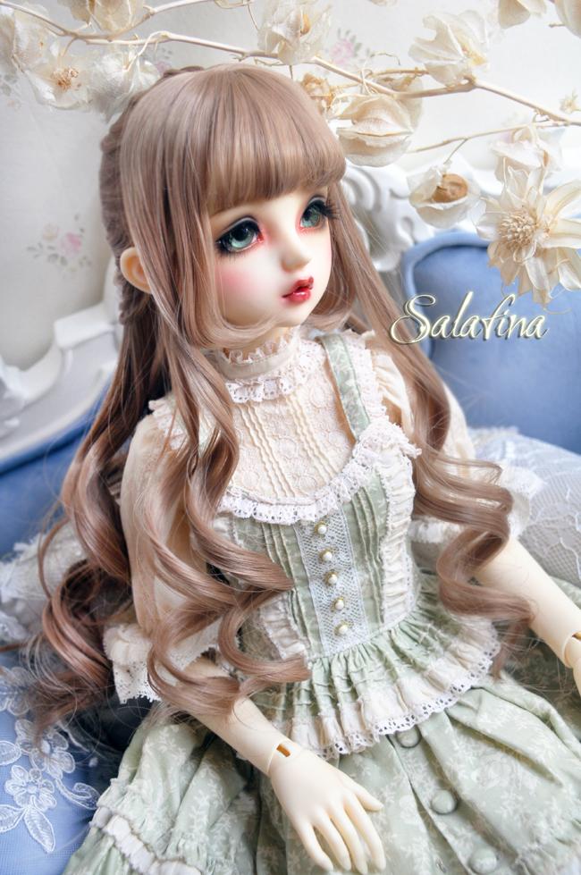 ドール用ウィッグ  人形ウィッグ  Anna カールヘア 1/3/1/4/1/6サイズ 高温糸 BJD SD製品図1