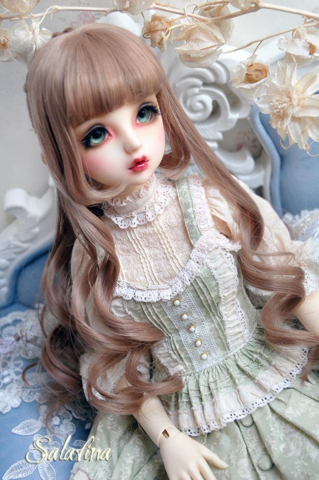 ドール用ウィッグ  人形ウィッグ  Anna カールヘア 1/3/1/4/1/6サイズ 高温糸 BJD SD製品図2